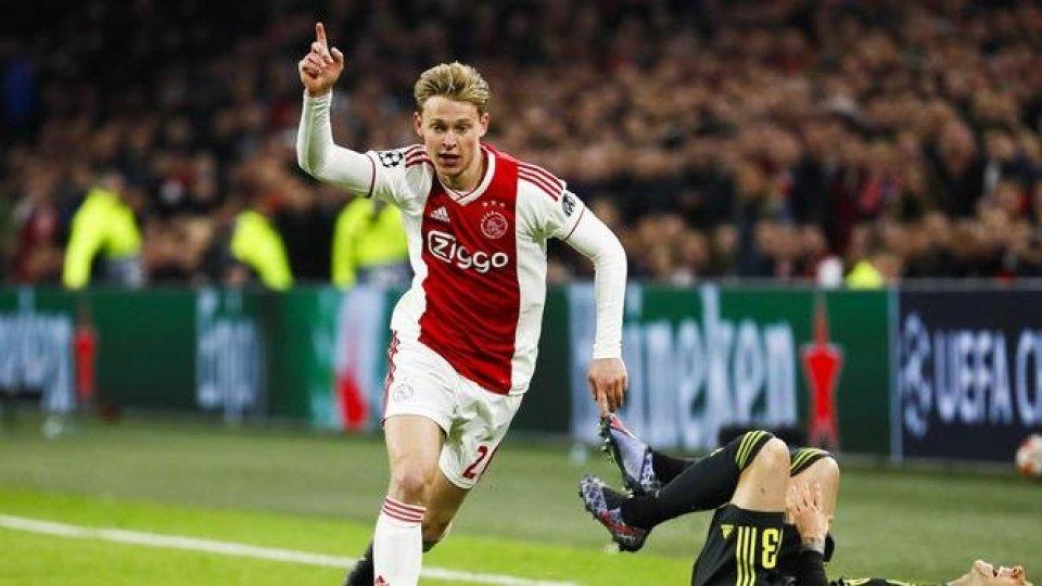Frenkie De Jong, foto ANSARecupera Emre Can, l'Ajax avrà De Jong per la partita che vale la semifinale