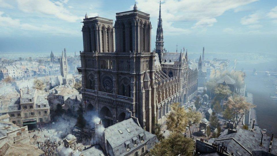 Notre Dame nella ricostruzione in 3D di Assassin's Creed
