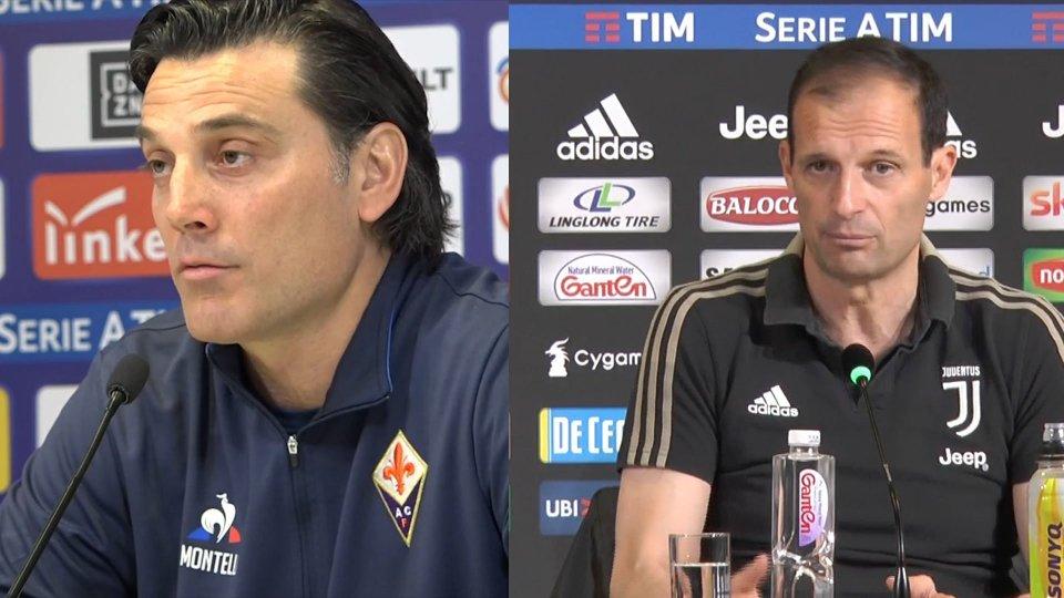 Vincenzo Montella e Massimiliano AllegriUn punto per l'ottavo scudetto