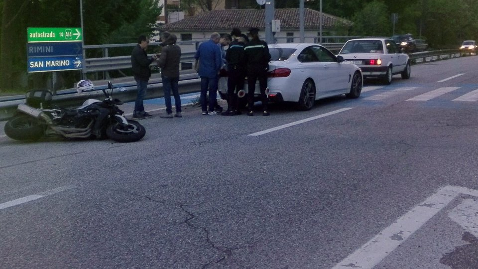 l'incidente a Serravalle