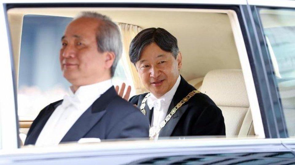 L'imperatore Naruhito. Foto ansa