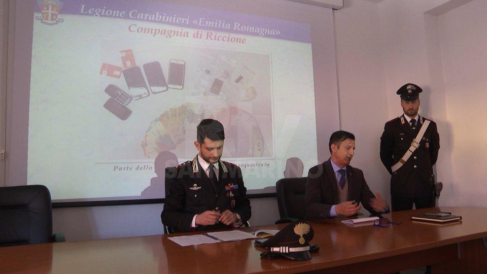 Riccione, i carabinieri stroncano giro di droga