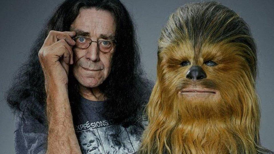 Peter Mayhew e Chewbacca. Foto @The Verge