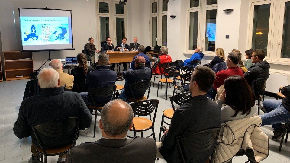 """""""San Marino verso l'Unione europea"""": ieri la quarta serata pubblica nel Castello di Montegiardino"""