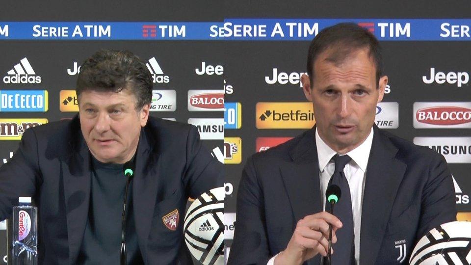 """Allegri:"""" abbiamo preso un goal da polli. Mazzarri:"""" abbiamo accarezzato il sogno di vincere il derby"""""""