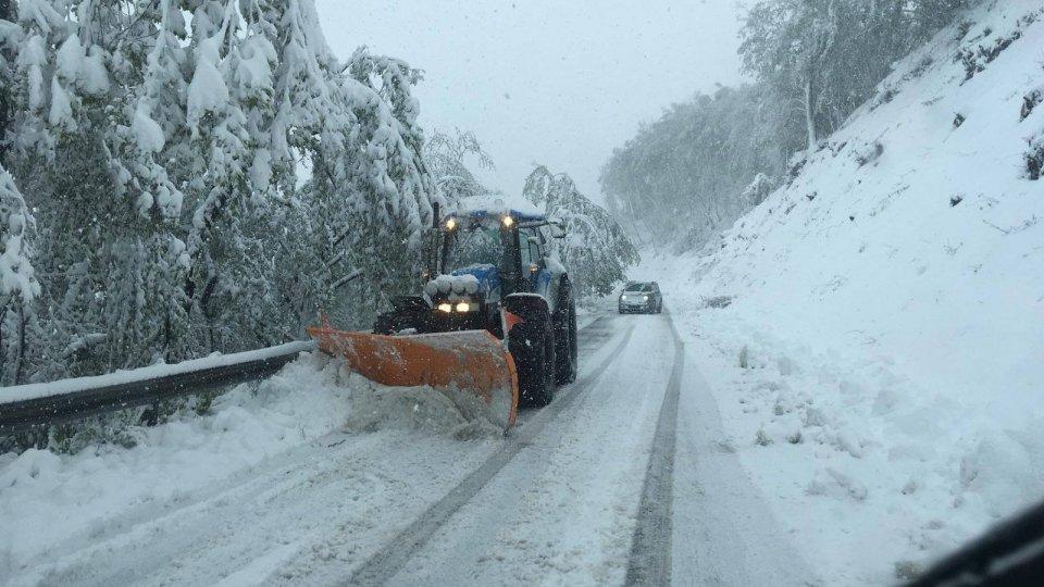 Neve sull'Appennino modenese   Foto: Emilia-Romagna Meteo