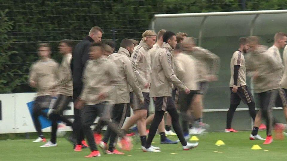 l'allenamento Ajaxla seconda semifinale di Champions