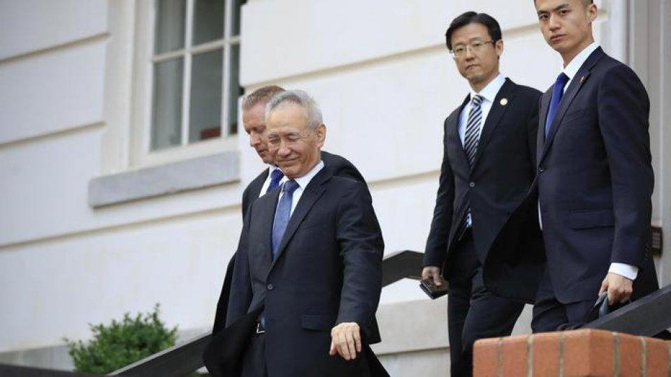 Il vicepremier cinese Liu He. Foto ansa