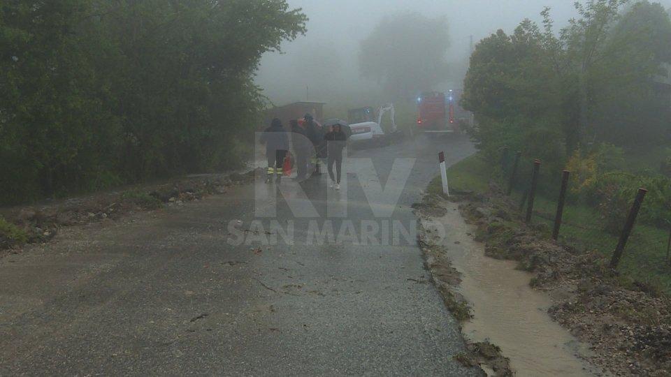 La situazione in località Capanne a San Marino