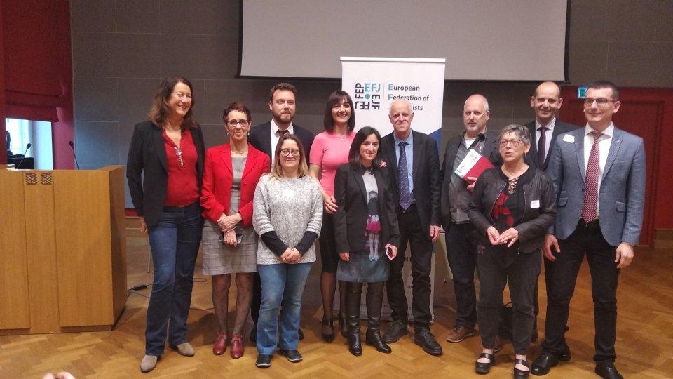 L'Usgi all'assemblea generale della Federazione Europea dei Giornalisti