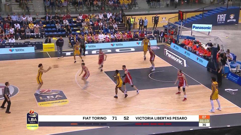 La VL Pesaro chiude con un'altra sconfitta: 93-71 per Torino