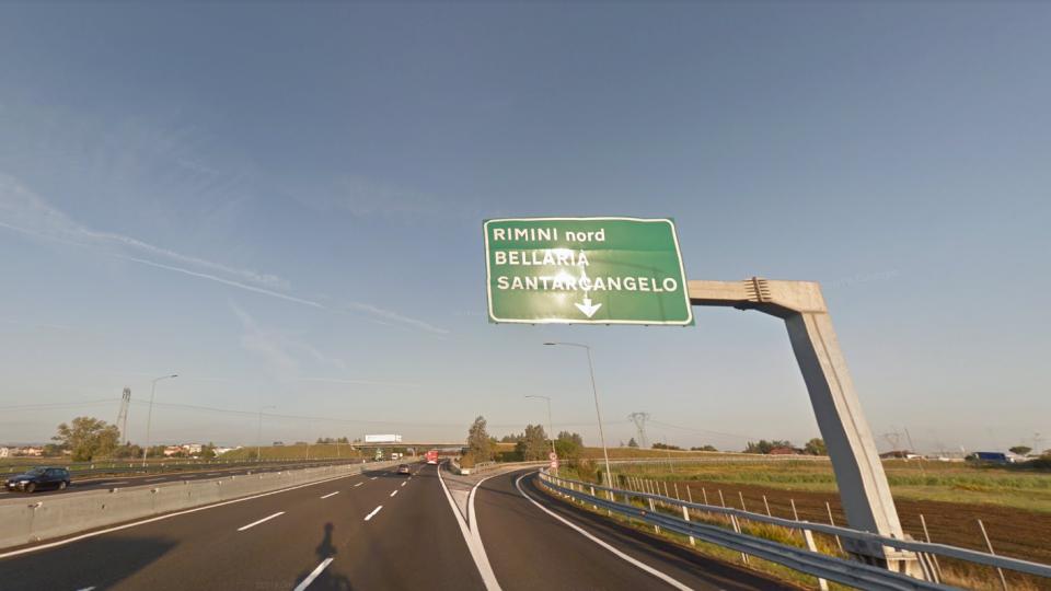 Casello Rimini Nord. Foto @google maps