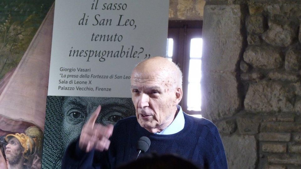 San Leo: cerimonia di conferimento della cittadinanza onoraria al Prof. Antonio Paolucci, Storico dell'Arte