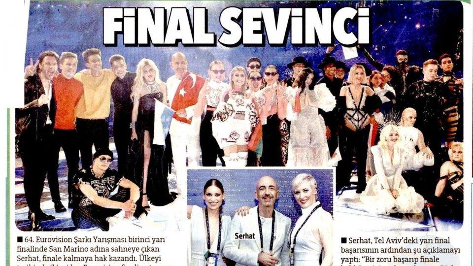 Serhat: i quotidiani turchi celebrano il passaggio alla finale