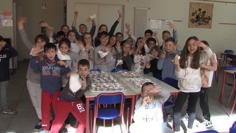 Gli studenti delle Elementari di Faetano