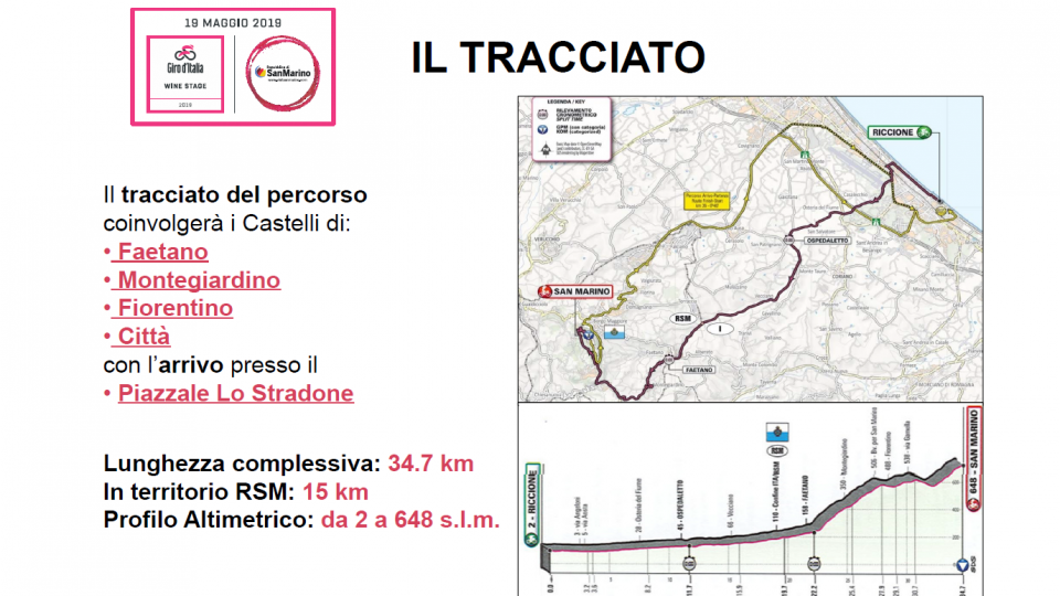 Ufficio Turismo: aggiornamento viabilità Giro d'Italia