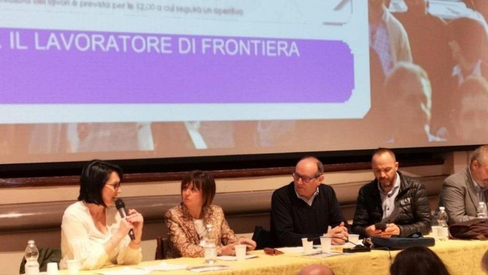 """Intervento assessore regionale Petitti al convegno """"Il lavoratore di frontiera"""""""