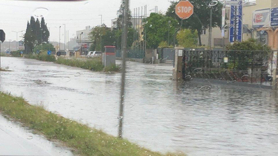 Pioggia a Santarcangelo