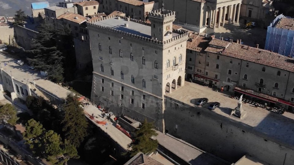 Palazzo Pubblico visto dall'alto