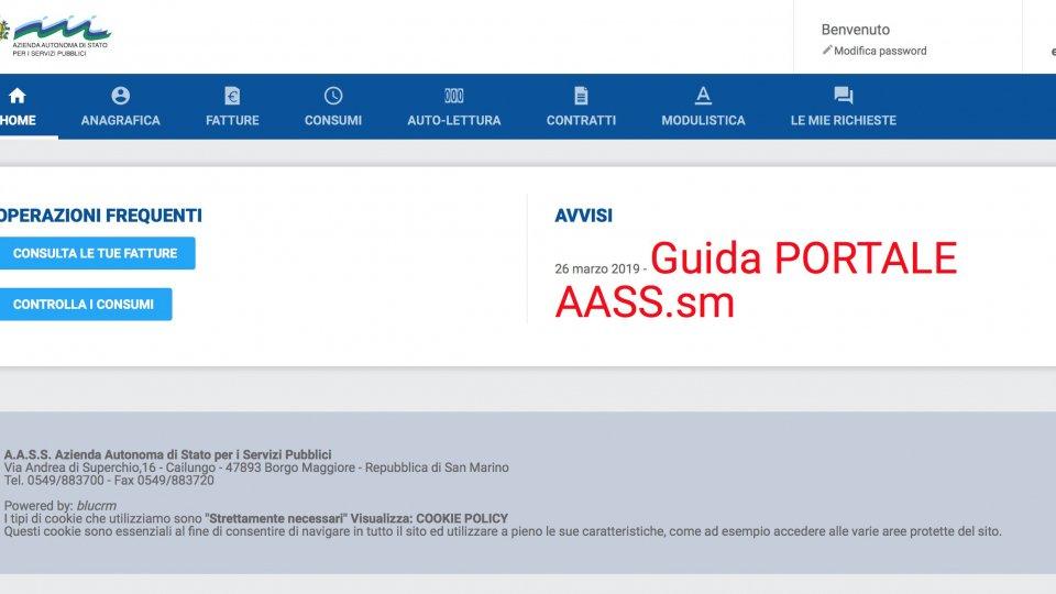 Si arrichisce il sito di AASS: online fatture, modulistica, consumi e autolettura