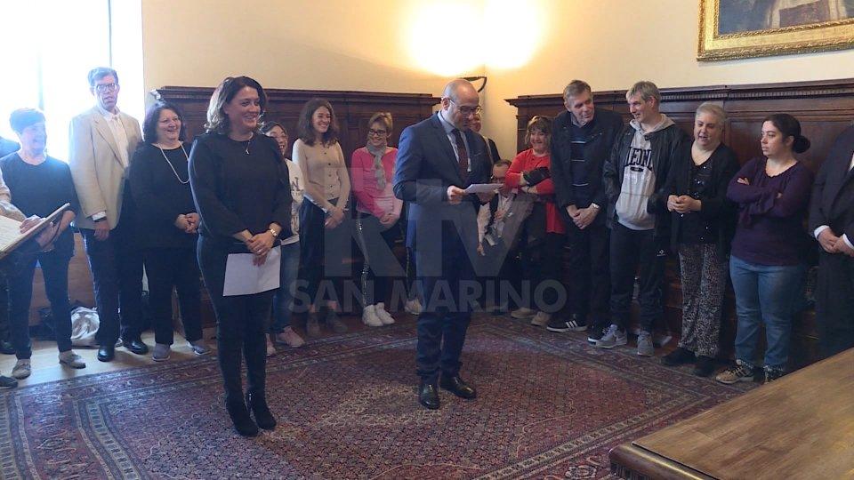 """Asdei in Udienza dalla Reggenza presenta """"Le torri preziose"""""""