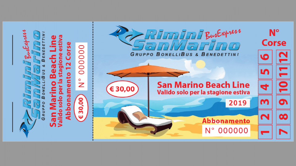 "Estate 2019, ripartono i bus ""SAN MARINO BEACH LINE"" del ""Gruppo Bonelli Bus & Benedettini"""