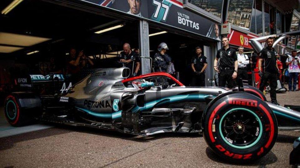 La Mercedes di Hamilton. Foto ansa
