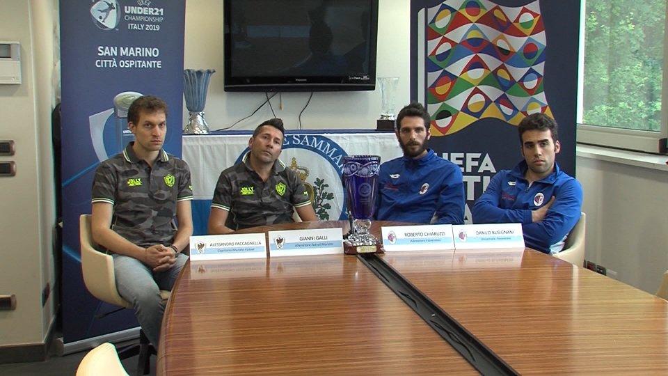 Interviste a Gianni Galli (allenatore Murata Futsal) e Roberto Chiaruzzi (allenatore Fiorentino)