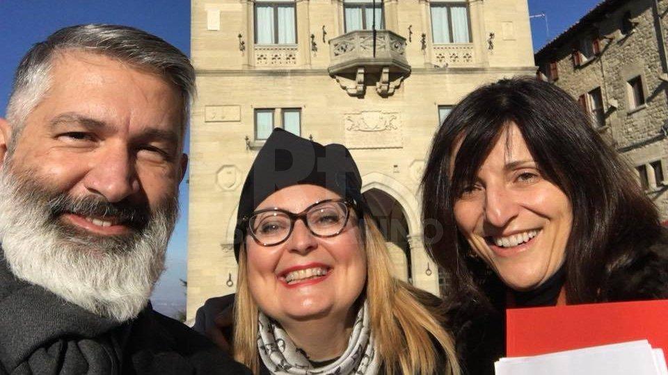 Esponenti del Gruppo Unioni Civili per San Marino