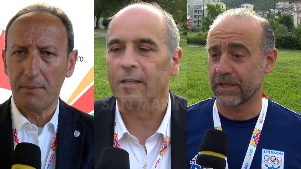 """Gian Primo Giardi - Eros Bologna - Giuliano TomassiniMontenegro 2019, Gian Primo Giardi: """"L'oro della 4x100 è stata una graditissima sorpresa"""""""