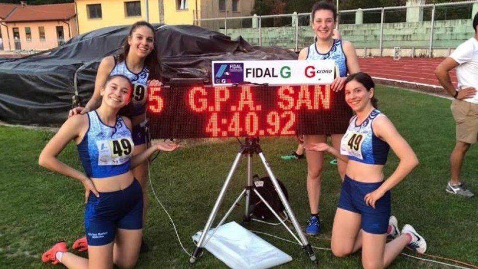 Nuovi record nazionali per il settore giovanile del Gpa San Marino