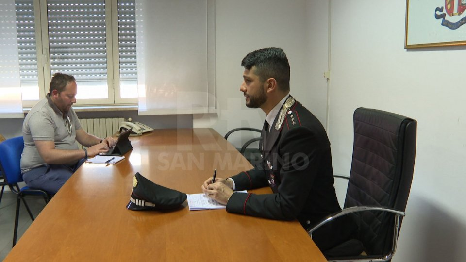 Intervista a Marco Califano, comandante carabinieri RiccioneIntervista a Marco Califano, comandante carabinieri Riccione