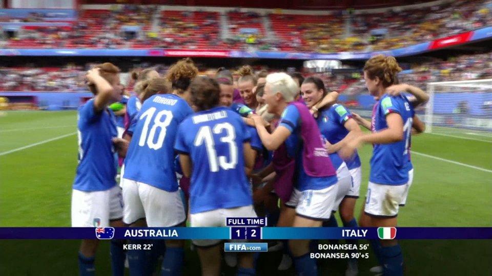 Batticuore Italia: rimonta l'Australia e vince nel recupero