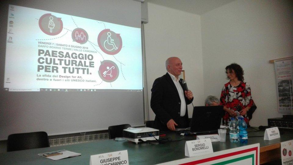 """San Marino partecipa all'evento  """"Il paesaggio culturale per tutti La sfida del Design for all, dentro e fuori i siti UNESCO italiani"""""""
