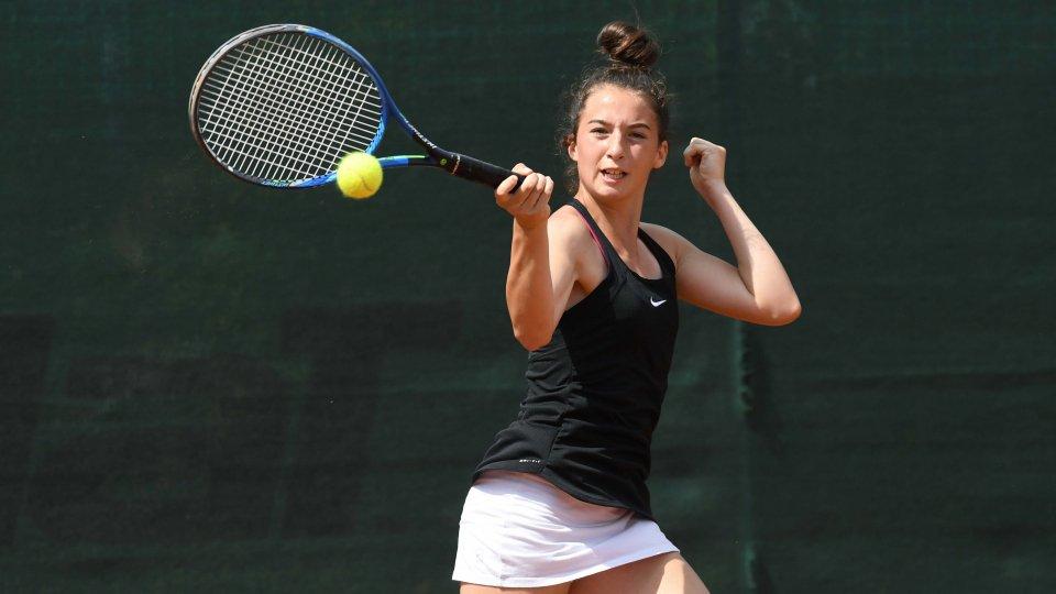 Al torneo dell'avvenire stop al secondo turno per Andrea Maria Artimedi, ancora in gara nel torneo di doppio come pure Erika di Muzio