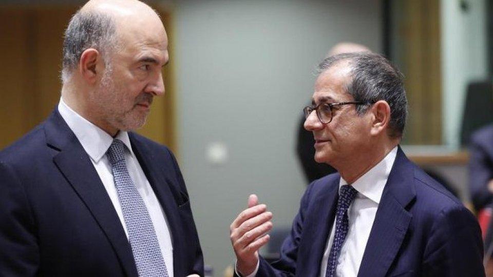 Giovanni Tria e Pierre Moscovici. Foto ansa