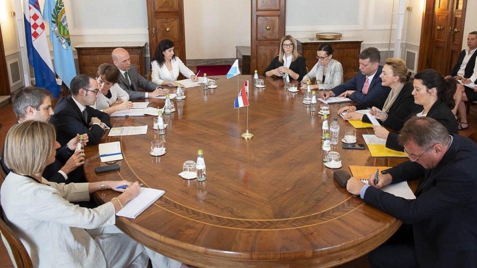 Visita del Ministro degli Affari Esteri ed europei della Repubblica di Croazia