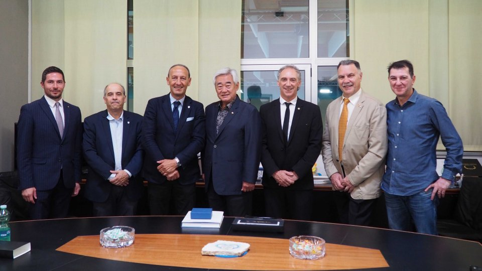 Il presidente della World Taekwondo Federation in visita al CONS