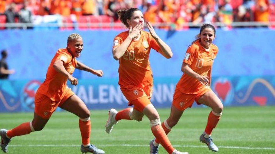 Vittoria dell'Olanda. Foto ansa