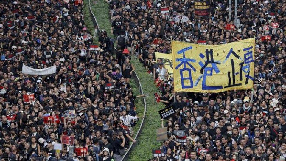 La manifestazione. Foto ansa