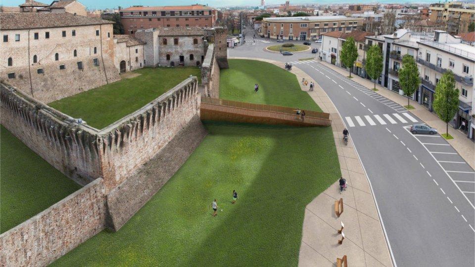Rimini: inizia la valorizzazione dell'antico fossato attorno a Castel Sismondo