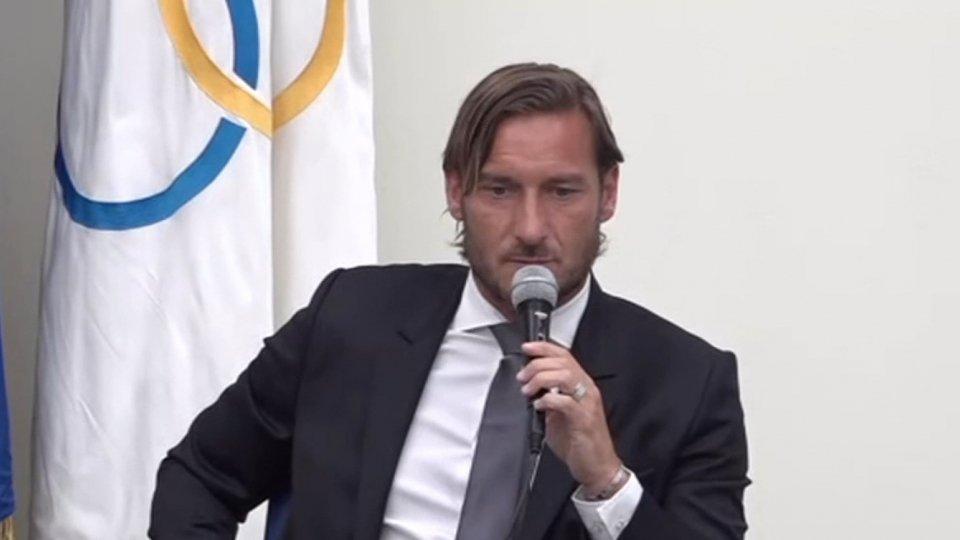 Conferenza Francesco Totti