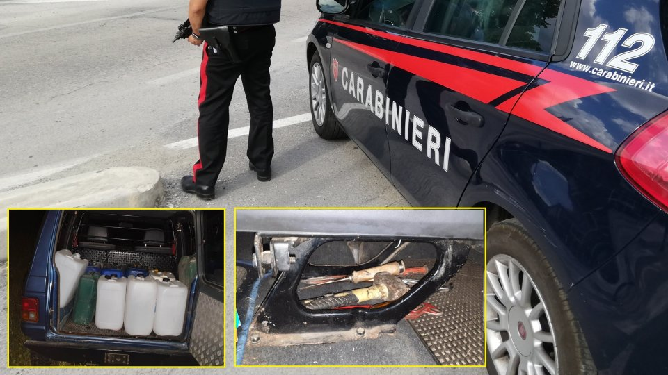 Pennabilli: ruba gasolio da mezzi agricoli, 40enne arrestato in flagranza