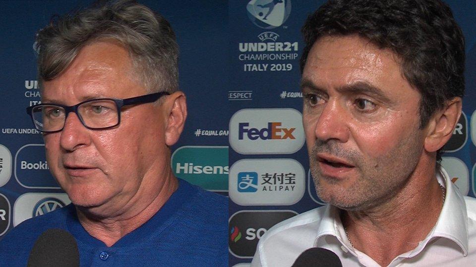 Nenad Gracan e Sylvain RipoliI commenti del dopo partita