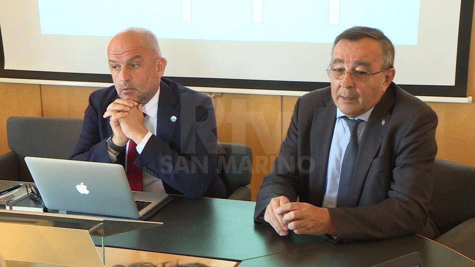 """I Segretari di Stato Podeschi e MichelottiMichelotti: """"Voglio vendere l'aria di San Marino"""""""