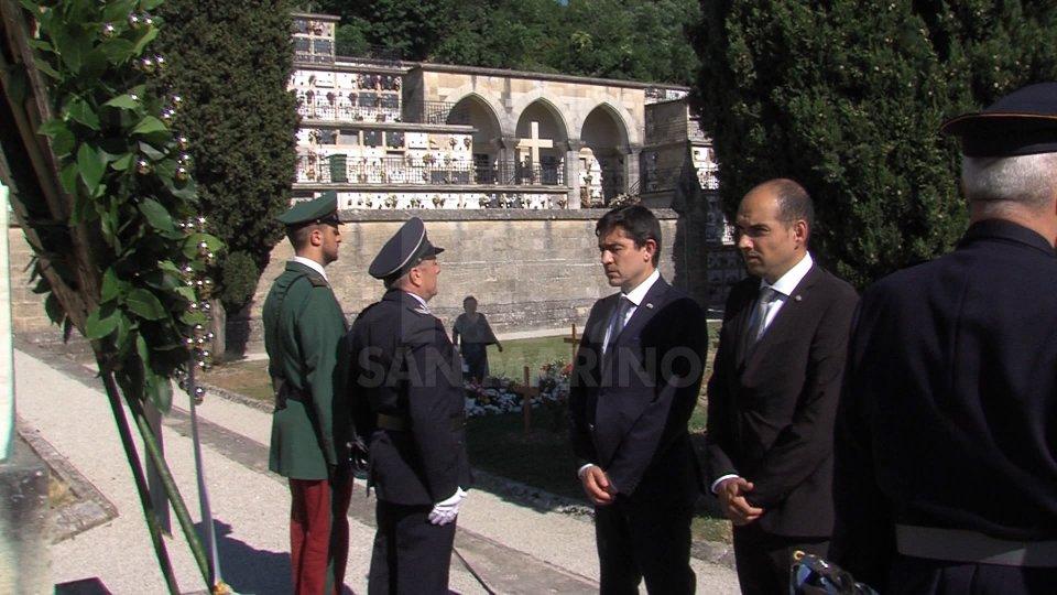 I Capitani Reggenti alla cerimoniaI Capitani Reggenti alla cerimonia