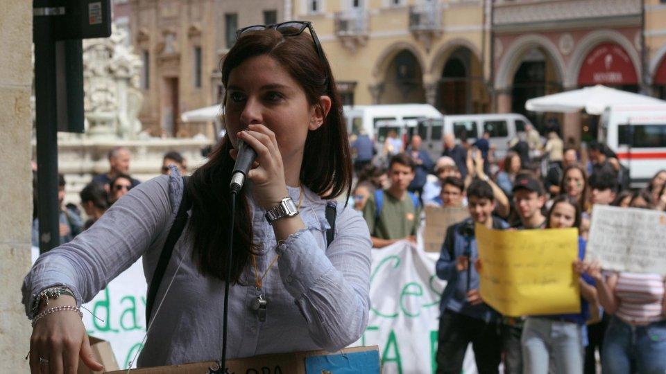 Nella foto Caterina Mancuso, attivista del Friday for Future Cesena