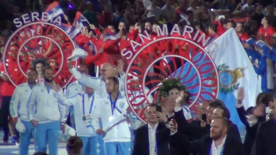 La cerimonia d'apertura dei Giochi Europei