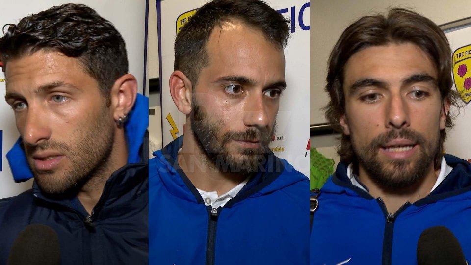 Ramiro Lago, Enea Righetti e Andrea CompagnoTre Fiori: nel dopo partita parlano Lago, Righetti e Compagno