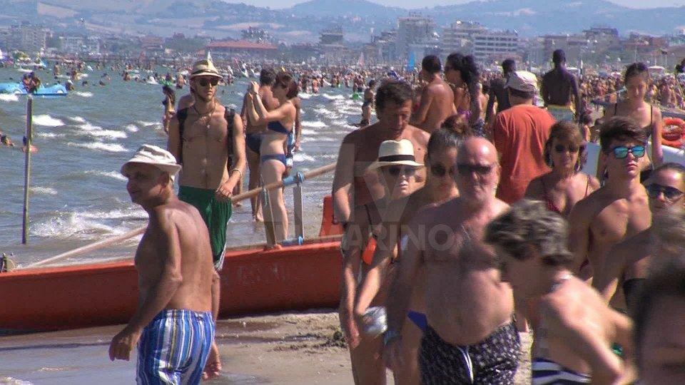 Il bagnasciuga di Rimini